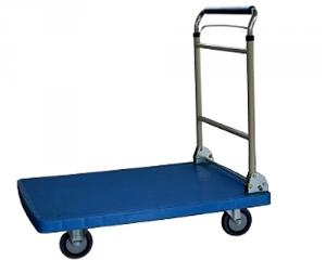 Plastic Trolley with foldable and telescopic handle