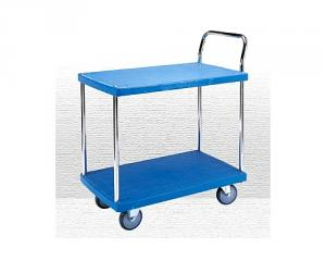 Galvanized Single Handle Plastic Trolley